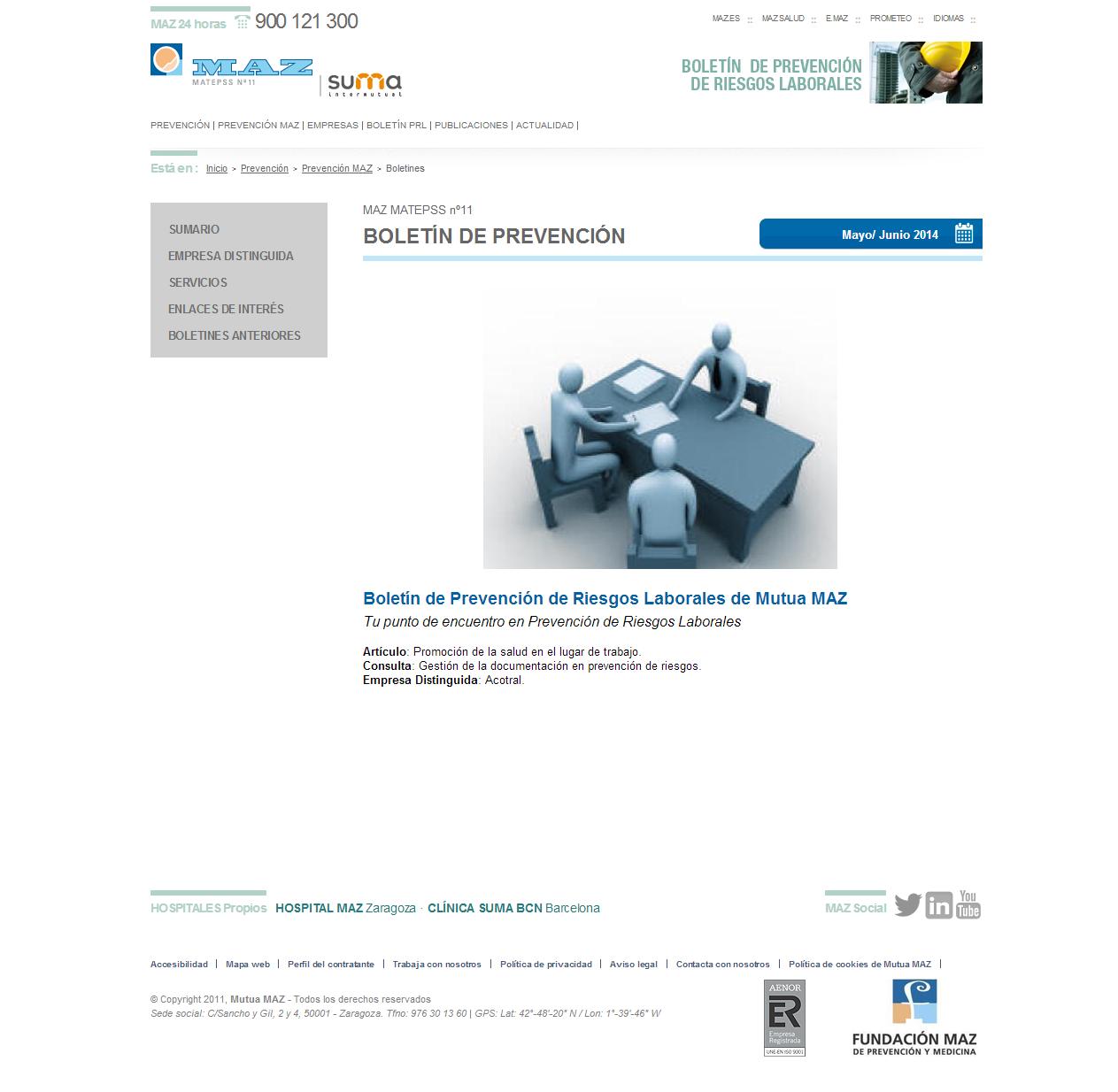 Boletín PRL - Nº 22 - Mayo 2014