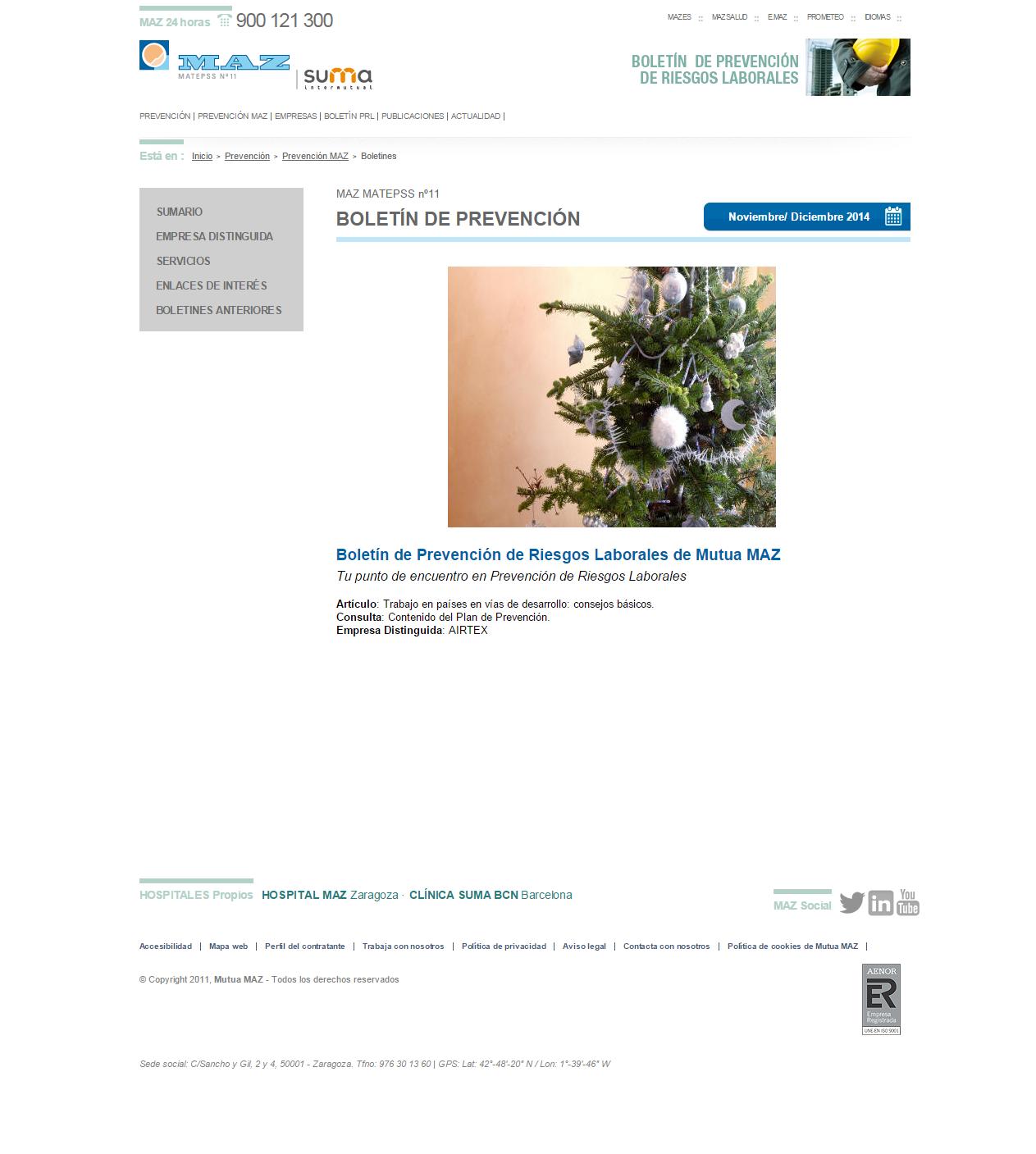 Boletin PRL - Nº 25 - Noviembre 2014