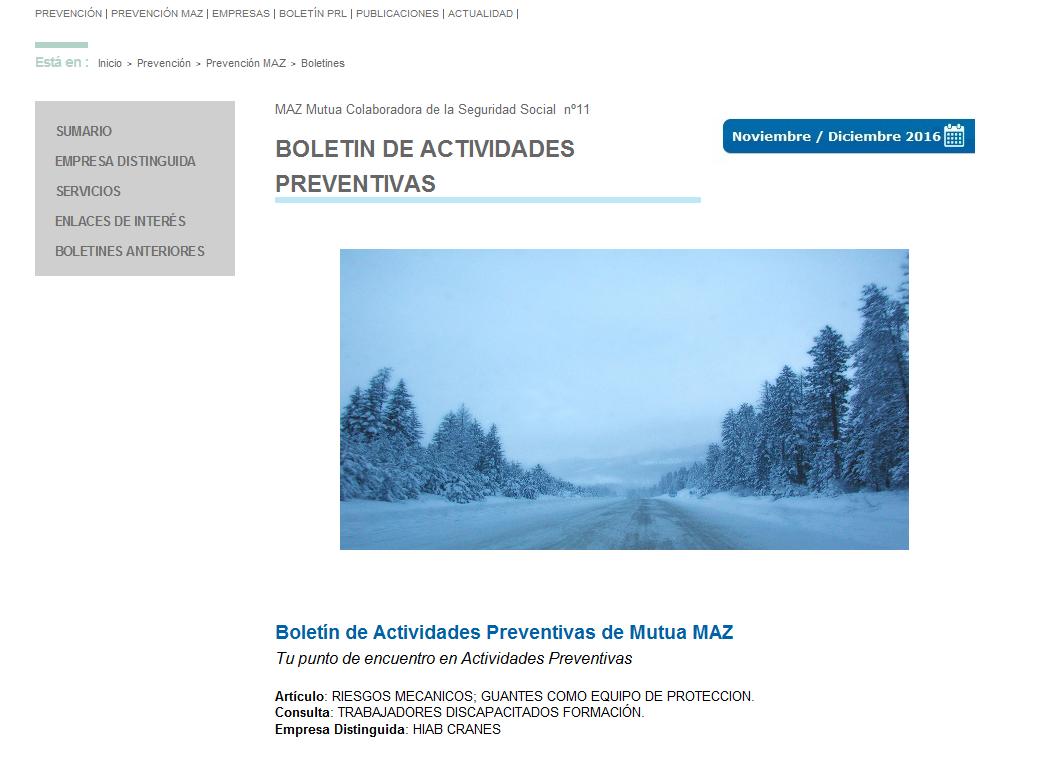 Boletin PRL - Nº 34 - Noviembre 2016