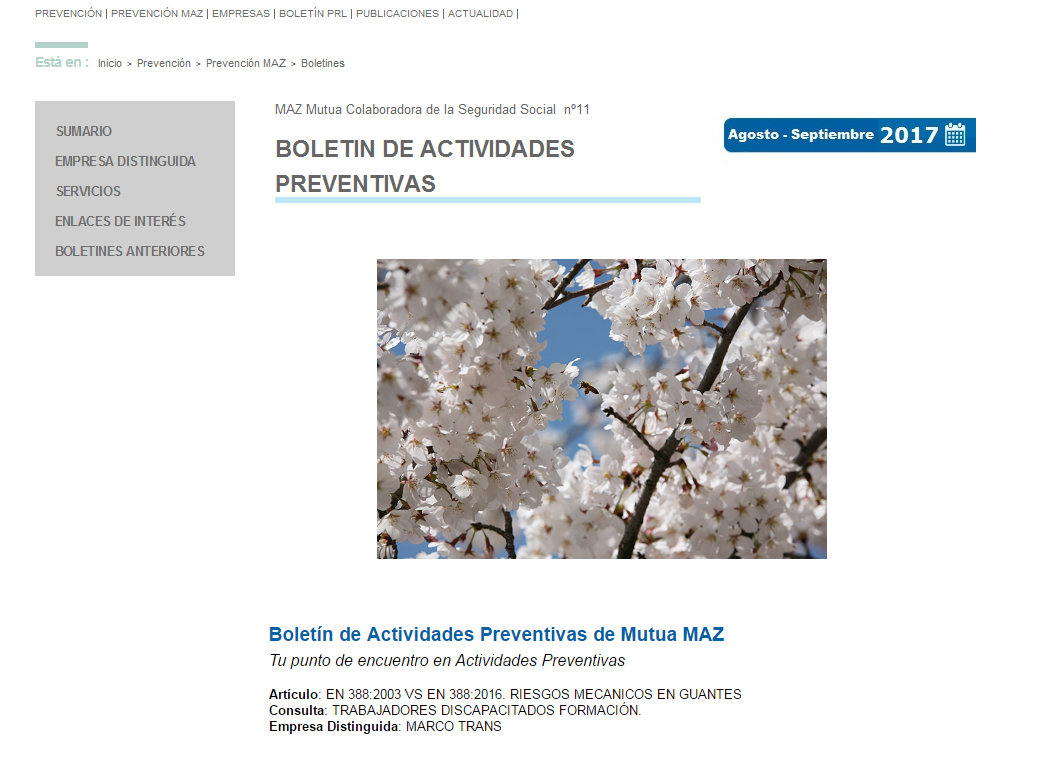 Boletin PRL - Nº 35 - Mayo 2017