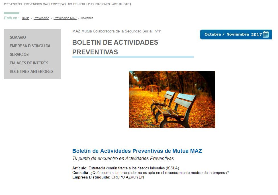 Boletin PRL - Nº 37 Octubre 2017
