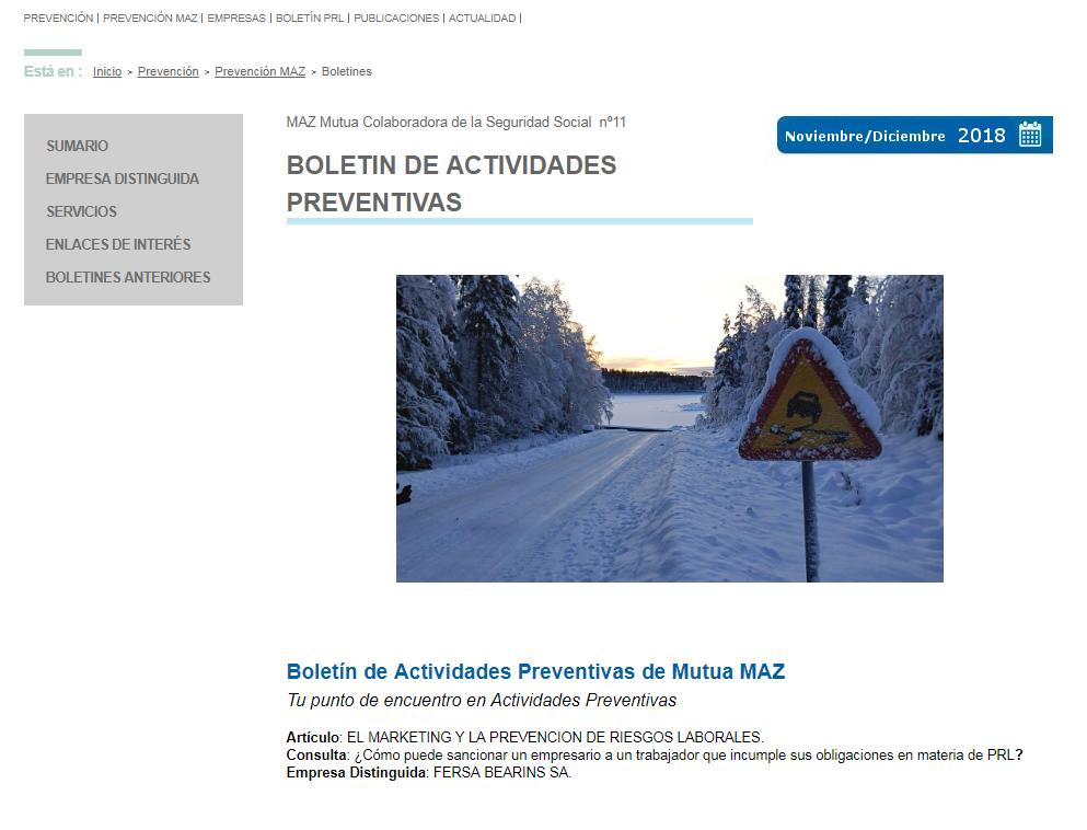 Boletin PRL - Nº 42 - Noviembre 2018